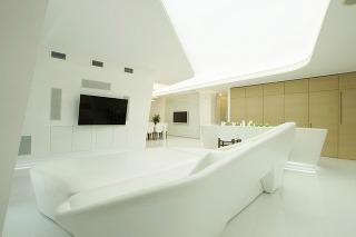 Futuristický biely dom
