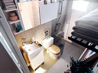 Okraje sprchovacieho kúta či