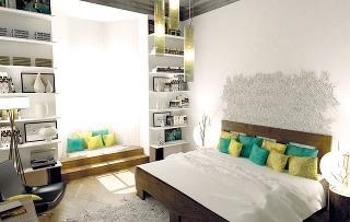 Manželská posteľ sdrevenou konštrukciou