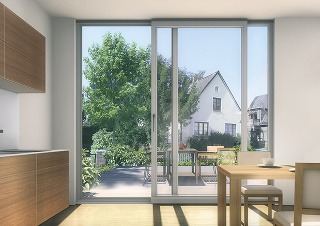 Zdvižno-posuvné dvere so štíhlym