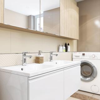 Pre rodinu stroma deťmi ačastými návštevami je dvojité umývadlo priam nutnosť.