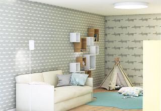 Príjemné farby lahodia oku dospelým ideťom. Pastelové odtiene adrevené doplnky pôsobia harmonicky. Žltý akcent na nábytku zas dáva priestoru dynamiku.