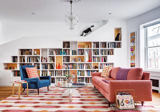 rekonštrukcia domu, návšteva, rodinný dom, BFDO Architects, navrhovanie interiéru, New York,