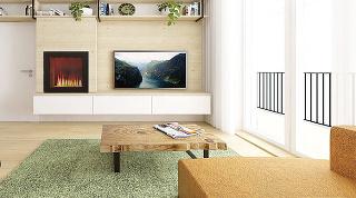 Industriálne prvky sú použité scitom vcelej miestnosti. Objavujú sa vpodobe detailov, ako sú konzoly na police, nožičky na nábytku či visiace lampy. Kým jedálenské stoličky pôsobia moderne avzdušne vďaka kovovej konštrukcii...