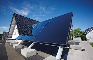 Beztlakové solárne kolektory typu drain-back.