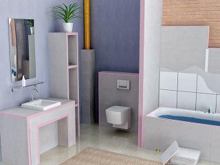 Uniplatňa je praktickým pomocníkom pri rozmanitých stavebných úpravách v kúpeľni.