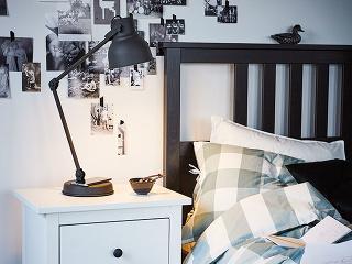HEKTAR, oceľ ahliník, šírka tienidla 16 cm, priemer 18 cm, smožnosťou bezdrôtového nabíjania, dĺžka kábla 1,9 m, 49,99 €, IKEA