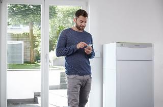Komfort cez smartfón: s tepelným čerpadlom flexoTHERM exclusive.
