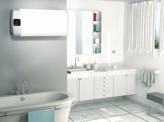 ARISTON VELIS EVO je plochý elektrický zásobníkový ohrievač vody selegantnou kombináciou bieleho povrchu akovových detailov. Vďaka hĺbke iba 27 cm amožnosti zvoliť zvislú alebo vodorovnú inštaláciu šetrí miesto asadne do každej kúpeľne. Je vybavený fu