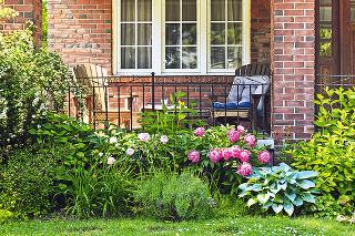 záhradka pred domom