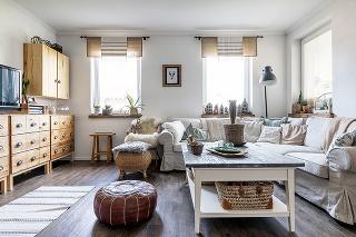 škandinávska obývačka