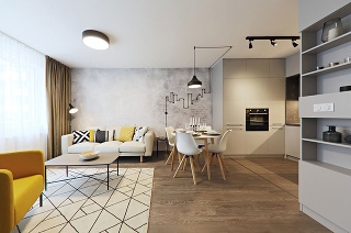 Interiér ohrejú tiež drobnosti z dreva, napríklad kuchynské doplnky či nohy jedálenského stola a stoličiek.