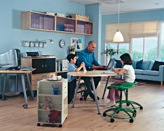 Rôzne práce a rôzni ľudia majú odlišné požiadavky na priestor aj na pracovné podmienky. Niekto potrebuje pokoj a súkromie, iný hudbu, a pre ďalšieho je najdôležitejší stály kontakt s ostatnými členmi rodiny, a drobné ruchy, ktoré sprevádzajú fungovanie do