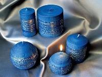 Exkluzívna súprava modrých sviec