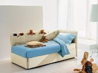 Detská sedačka/posteľ s lamelovým