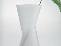 Váza Drill z bieleho