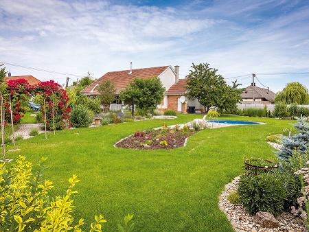 Rozložitá záhrada, ktorá má