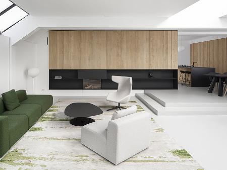 obývacia časť so zelenou