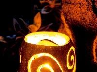 Jesenné vykrajované svetielka
