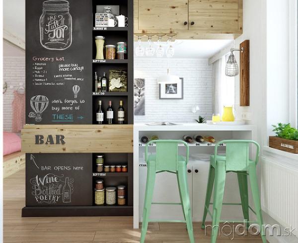 Mal rusk a ne kodne farebn byt for Modern bar designs for small spaces
