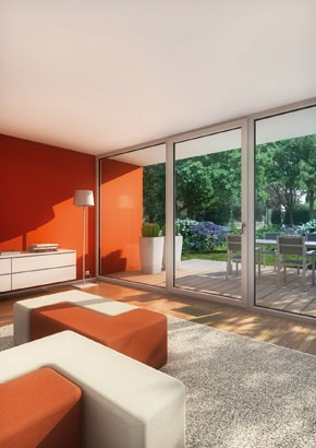 Okenný profil pre architektúru