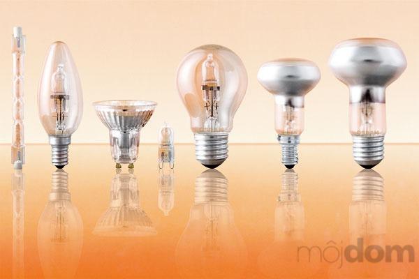 Halogénové úsporné žiarovky sú