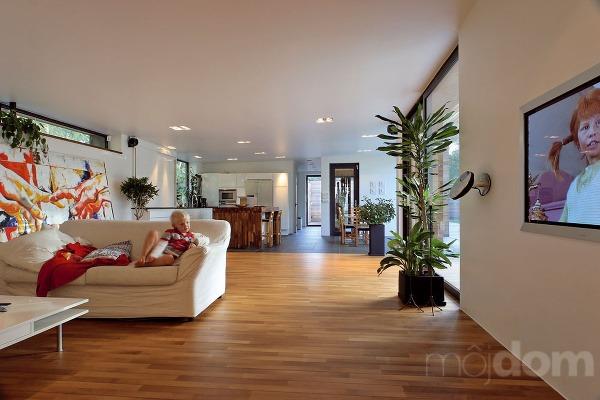Vrozľahlom obývacom priestore nevystupuje