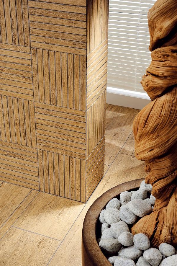 Na stenách narysované drevené