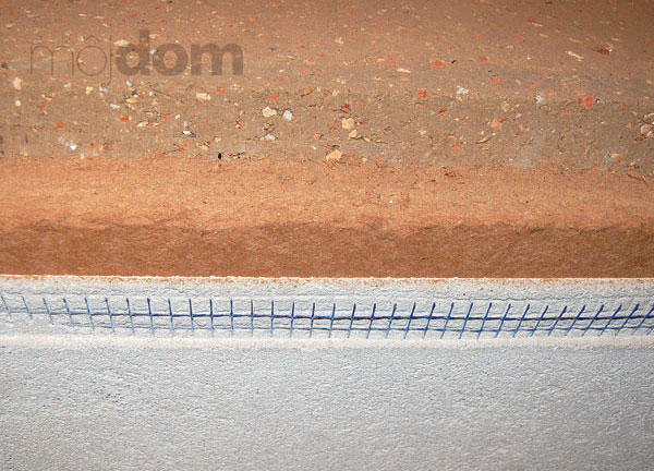 Príklad steny z nabíjanej