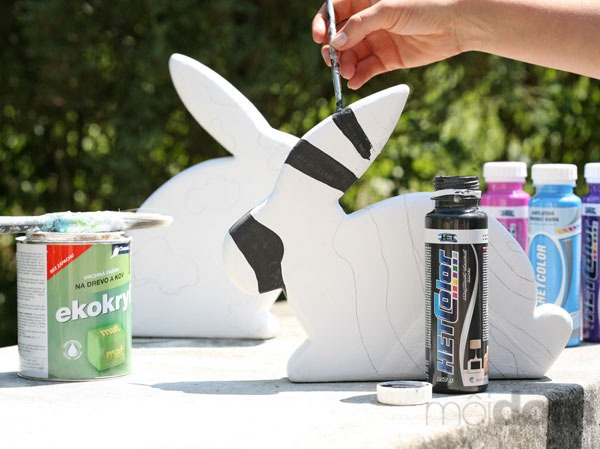 Zajaca napenetrujte bielou farbou