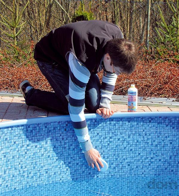 Na čistenie stien bazéna
