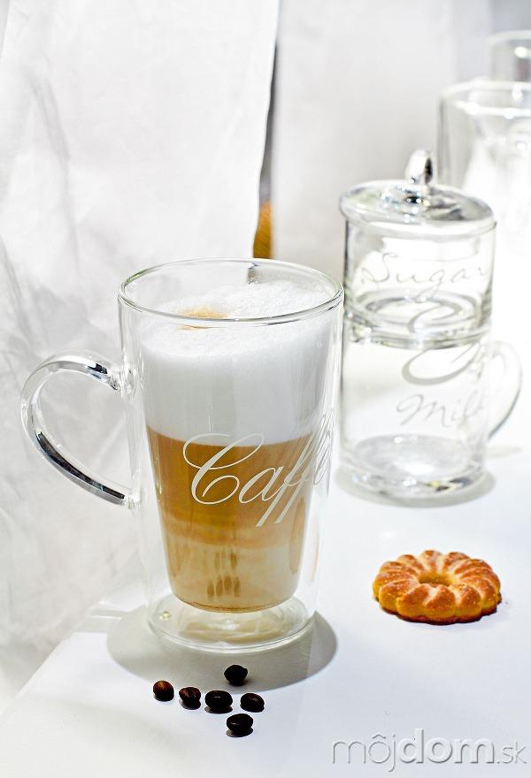 Sklenená šálka Caffe Latte