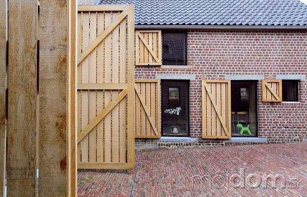 Okenice abrány zdubového dreva