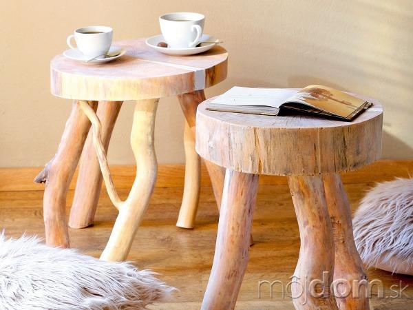 Vlastnoručne vyrobené stolčeky vás