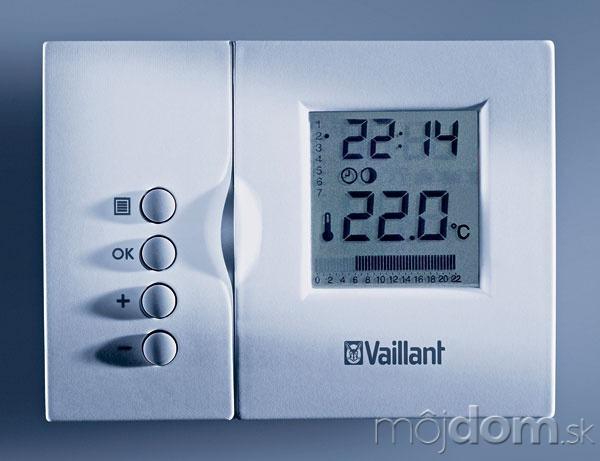 Priestorové termostaty umožňujú jednoduché