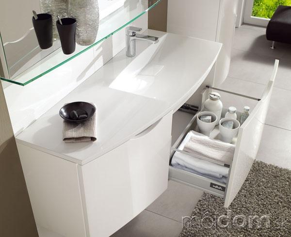 Biela závesná umývadlová skrinka