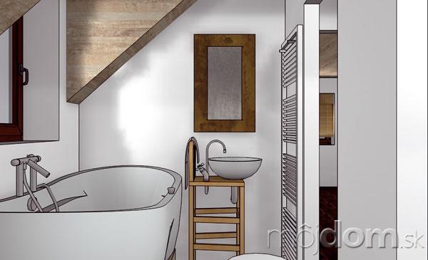 Aj vmalej podkrovnej kúpeľni