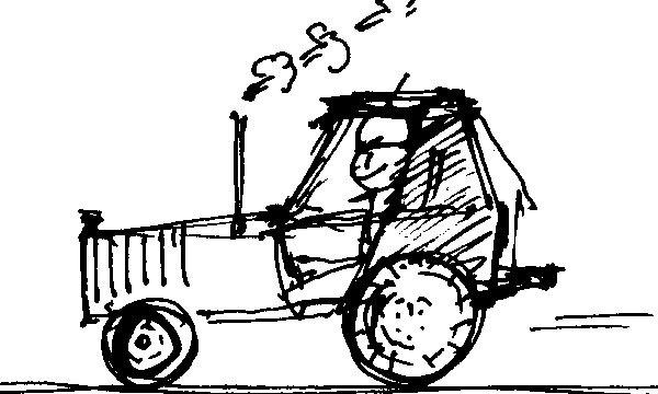 Vývoz slamy traktorom