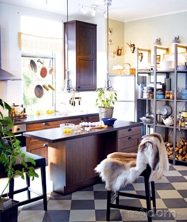 Kuchyňa Faktum/Rockhammar shnedými dvierkami,