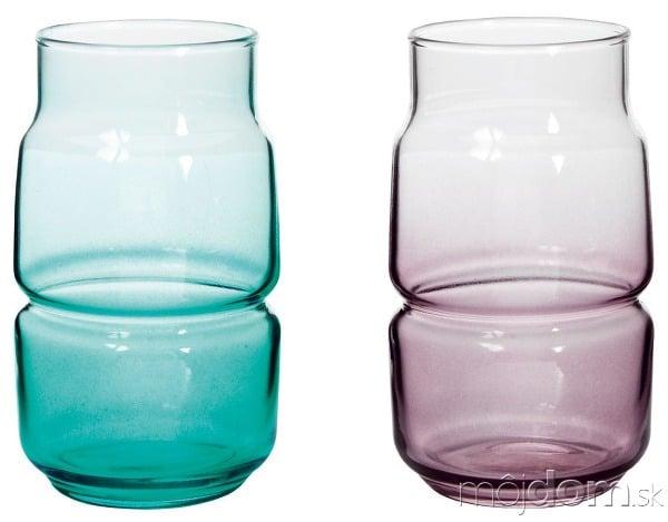Vázičky Olik, farebné sklo,