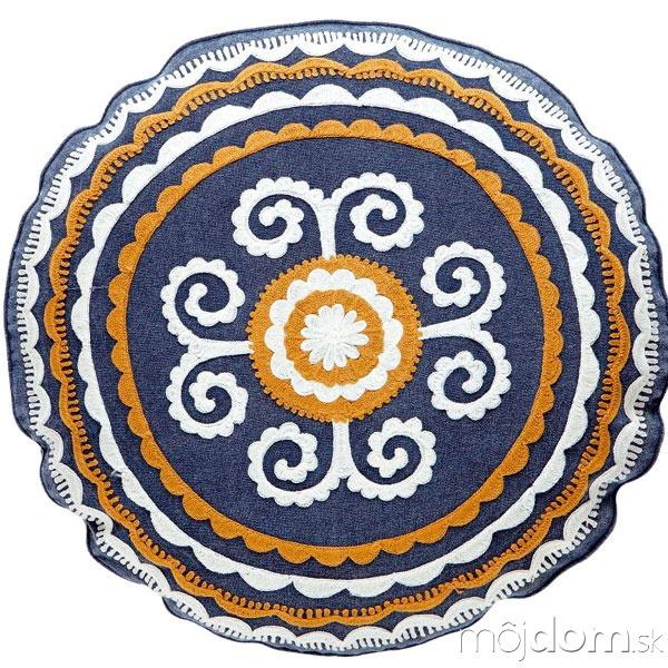 Okrúhly vyšívaný vankúš Embroidery,
