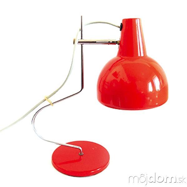 Pôvodná červená stolná lampa