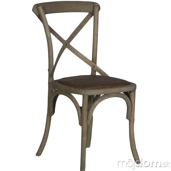 Stolička Dauphine zdubového dreva,
