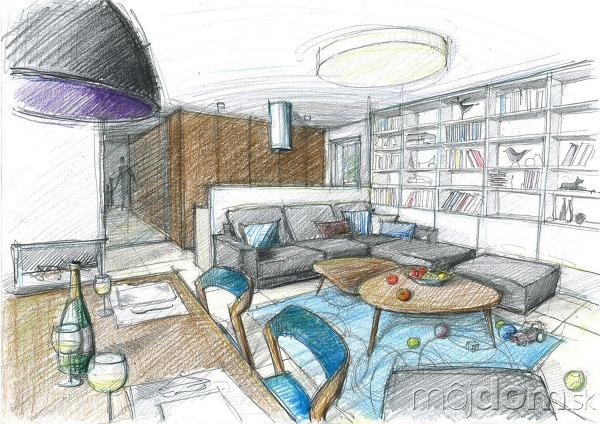 Návrh interiéru katalógového rodinného