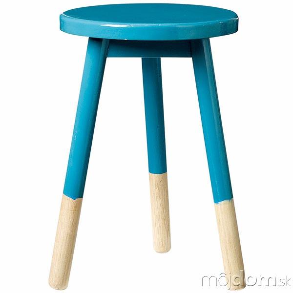 Drevená stolička Fir petrol,