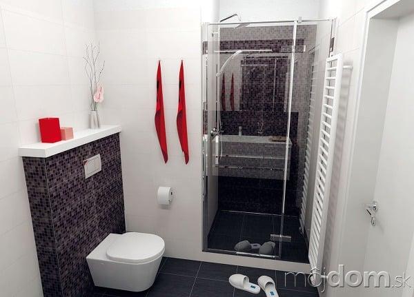 Vedľa sprchovacieho kúta je
