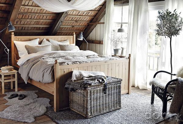 Dvojlôžková posteľ Hurdal, masívne