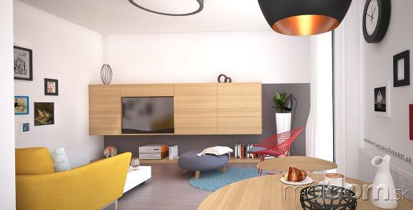 Návrh obývacej izby malého