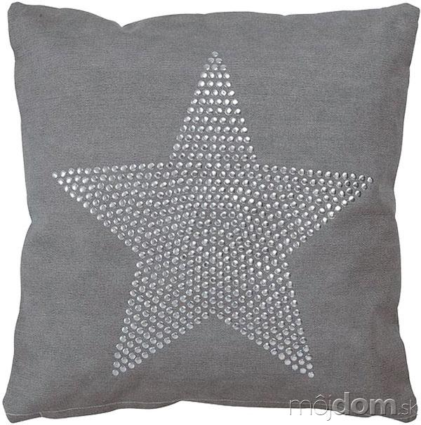 Vankúš Star, teplá sivá