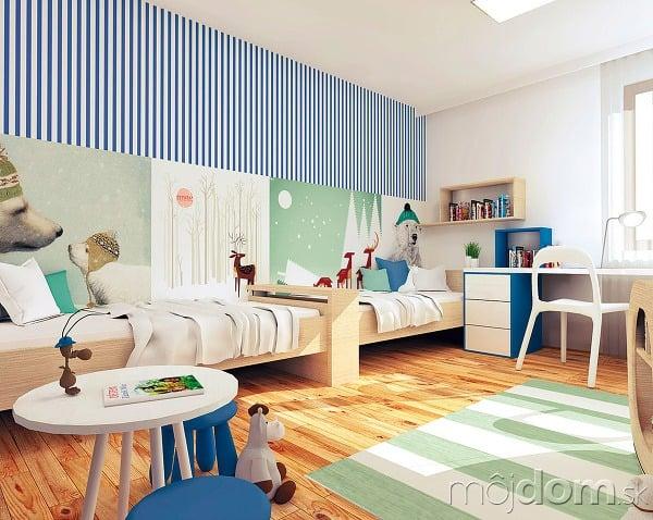 1553cd3f384aa Ako vyriešiť spoločnú detskú izbu pre školáka a malú škôlkarku ...